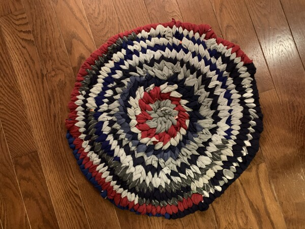 Unique Round Knotted Rug